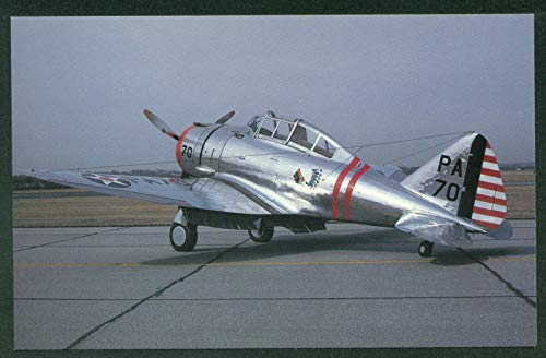 (Seversky P-35 Pursuit Airplane WWII Air Corps Postcard)