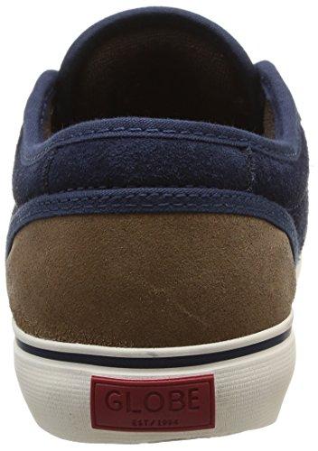 Globe Motley - Zapatillas de skateboarding para hombre Multicolore (Distressed Brown/Navy)