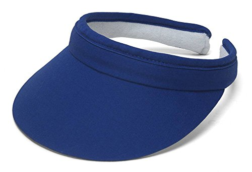 TopHeadwear Sports Cotton Twill Clip-On Visor - Royal ()