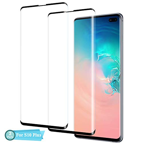 Galaxy S10 Plus Screen Protector, CBoner [2 Pack] [No Bubbles] [9H Hardness] [Scratchproof] [Table Friendly] Tempered Glass Screen Protector Compatible with Samsung Galaxy S10 Plus