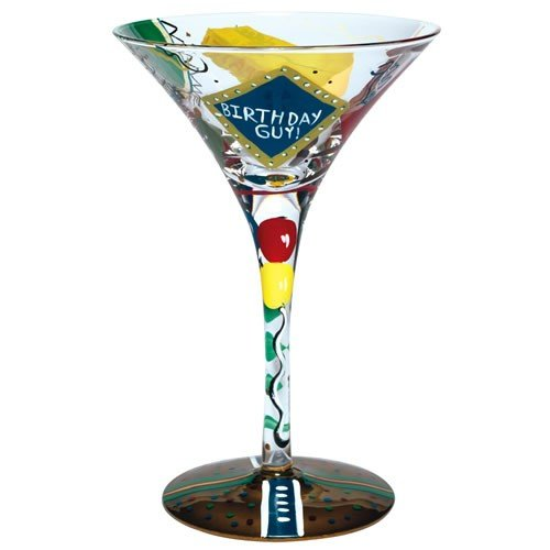 Lolita Love My Martini Glass, Birthday Guy Santa Barbara Design Studio GLS4-5580A