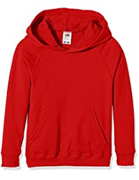 Fruit of the Loom Kids Lighweight Hooded Sweatshirt - 11 Colours / Age 5-15 Year