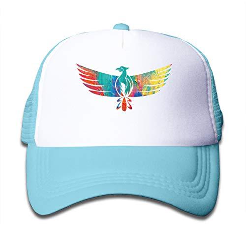 (Eagle Rise Emblem Bird Flight Adjustable Mesh Cap Trucker Hats for Baby, Toddle Sky Blue)