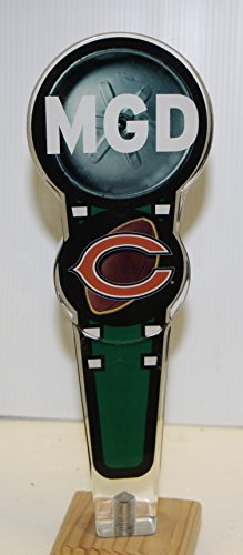 MGD miller genuine draft beer Chicago Tap Handle Bears football acrylic (Ale Acrylic Tap)