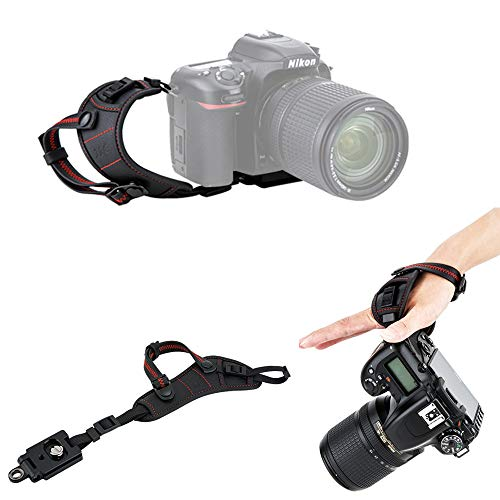 JJC Deluxe DSLR Camera Hand Strap with Quick Release Plate for Nikon D850 D750 D500 D7500 D7200 D7100 D3500 D3400 D3300 D3200 D5600 D5500 D5300 D5200 D810 D800 D600 D610 D5 D4s D4 D3s D3 & More DSLR from JJC