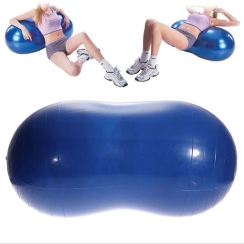 Angelwing Yoga Ball Peanut Shape Fitness Exercise Workout Gym Blue 90x45cm