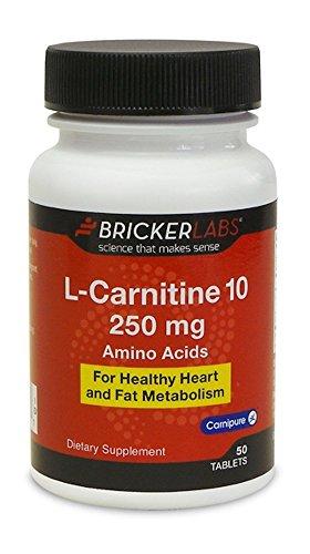 Bricker Labs - L-Carnitine 10 250mg L-Tartrate with B6 - 50 tablets