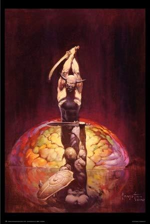 The Brain By Frank Frazetta Gothic Fantasy Art Print Poster 24x36