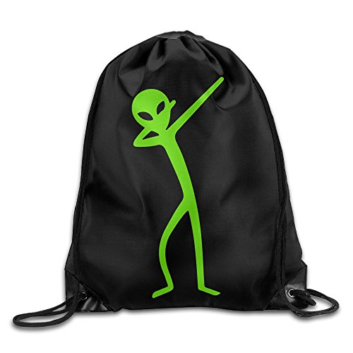 Dabbing Alien Drawstring Backpack Beam Mouth Yoga Sackpack Rucksack Shoulder Bags For Men / Women from 05_&_NG