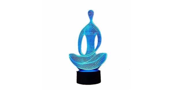 Ilusión Optica 3D Yoga Meditación Luz de Noche 7 Colores que ...