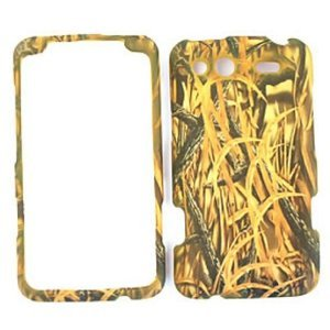 HTC Salsa Camo / Camouflage Hunter Series, w/ Shedder Grass Hard Case, Snap On Cover