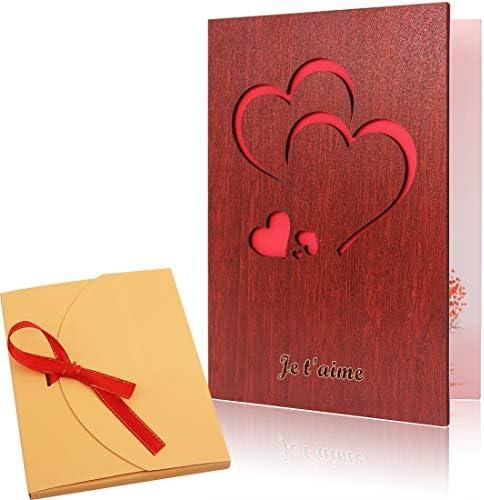 Avec Amour à la Saint-Valentin carte ~ Qualité st-valentin avec de belles paroles