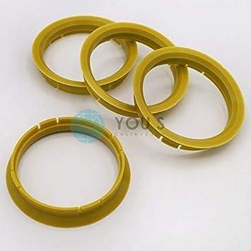 4 x ZENTRIERRINGE DISTANZRING ALUFELGEN R25 76,0-70,6 mm Alloytec ASA NEU