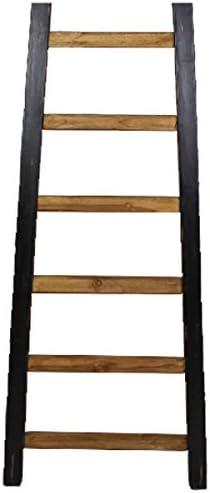 Shabby Decorar Escalera 150 cm Escalera de madera, escalera toallero Tendedero, madera, negro, Breite: 55 cm Tiefe: 4 cm Höhe: 150 cm: Amazon.es: Hogar