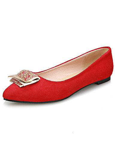 5 Toe carrera us10 red de cn43 uk8 señaló plano zapatos PDX mujeres eu42 rojo oficina y casual vestido azul 5 Flats talón negro las BCPTq0w