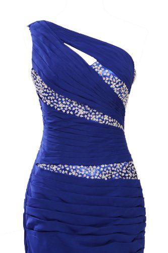 MISSYDRESS One Kleid Blau Shoulder Damen arCqPwa