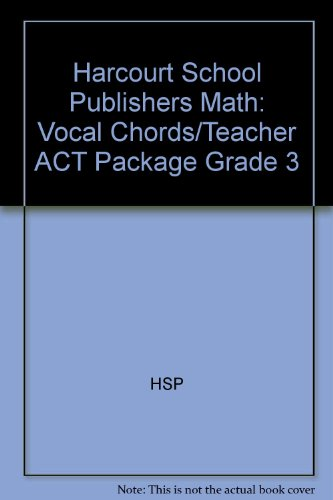 Harcourt Math: Vocabulary Cards with Teacher's Activity Guide Grade 3