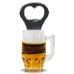 Magnético en forma de cerveza, incluye abrebotellas