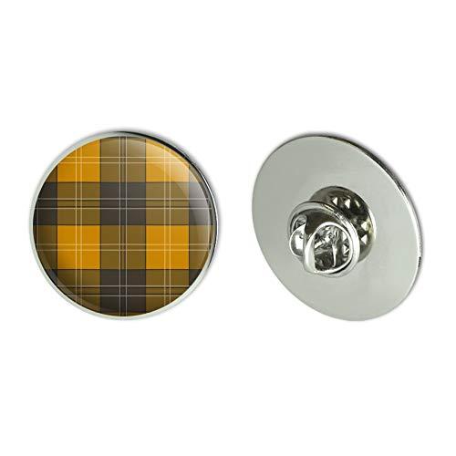 GRAPHICS & MORE Plaid Mustard Yellow Gray Grey Pattern Metal 1.1