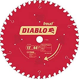 Freud D1244X Diablo 12″ 44 Tooth ATB General Purpose Miter Saw Blade 1″ Arbor