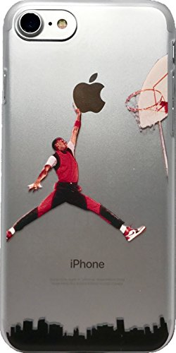 df36be71a2729 ECHC Fulfillment Soft TPU Basketball Case with Your Favorite Past and  Present Players (Jordan City Dunk, iPhone 7 and 8)