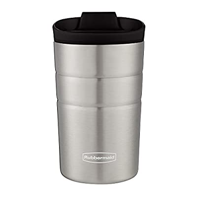 Rubbermaid Leak Proof Flip Lid Thermal Bottle, 10 oz, Black
