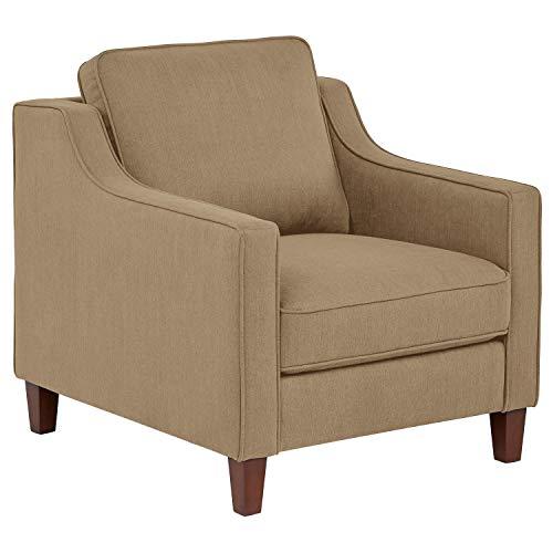 Stone & Beam Blaine Modern Living Room Chair, Fabric, 32.3″W, Beige