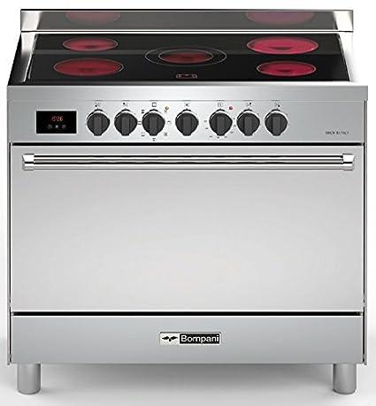 Bompani Cocina de acero inoxidable 90 cm/Range Cooker en diseño ...