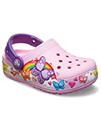 Crocs Unisex-Adult Boys and Girls Butterfly Band Light Up Clog Clog