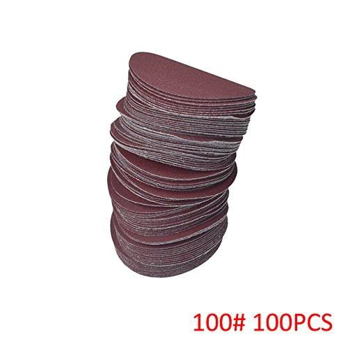 NAVARME 100pcs 100mm 4 Inch Sanding Disc 100 Grit Orbital Sander Pads Abrasive Sandpaper by NAVARME