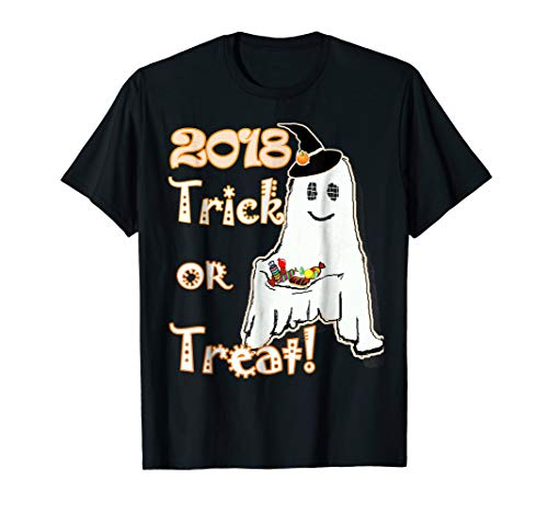 trick or treat halloween gost 2018 boo t-shirt