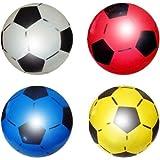 PoundSaver ® Soft Lightweight PVC Plastic Shoot Soccer Football Play anywhere Beach Park Home School Birthdays Indoor Outdoor - Colours Vary (1 Ball)