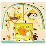 Djeco DJ01481 3 Layer Puzzle- Chez Nut Puzzle