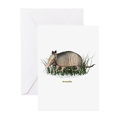 CafePress - Armadillo - Greeting Card, Note Card, Birthday Card, Blank Inside Glossy - Anniversary Keepsake Tile