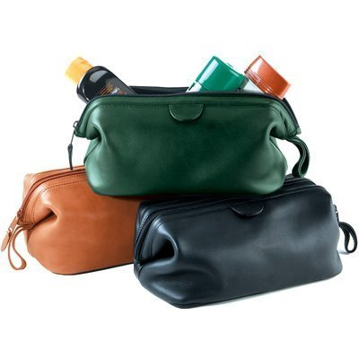 Royce Leather Toiletry Bag - Top Grain Cowhide Leather by Rothough