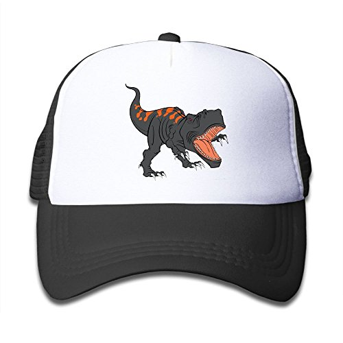 KKMKSHHG The Fierce Dinosaur Youth Adjustable Mesh Hats Baseball Trucker Cap for Boys and Girls ()