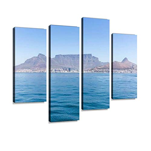 Cape Town - Table Mountain Canvas Wall Art Hanging Paintings Modern Artwork Abstract Picture Prints Home Decoration Gift Unique Designed Framed 4 Panel