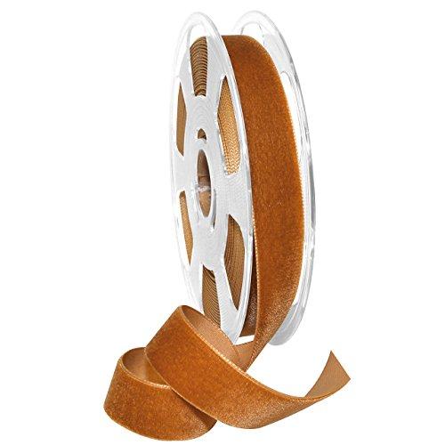 Morex Ribbon, Nylon, 7/8 inch by 11 Yards, Copper, Item 01225/10-447 Nylvalour Velvet Ribbon, 7/8