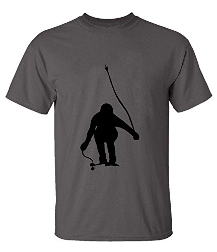 Skiing 3 Silhouette T-Shirt For Mens XL - Stores Louisiana Mall