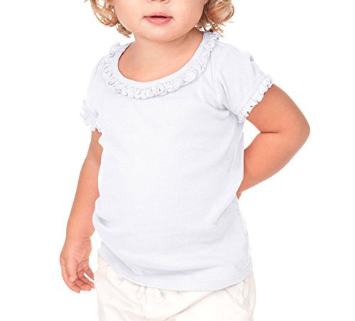 Kavio! Infants Sunflower Short Sleeve Top White 24M (Toddler Top Girls)