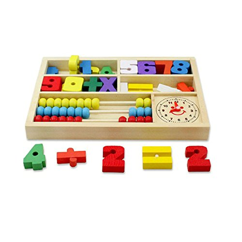 Ziyier G&E Wooden Toys Digital Learning Box Boxes Intellectual Building Block Toys Early Education