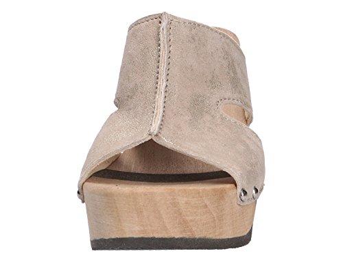 Pantolette Softclox Con Pavimento In Legno Oro Oliva (nocciola)