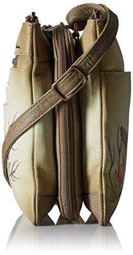 Anuschka Bolsos de piel pintado a mano, Cuero bolsos de hombro para Mujer, Bolsos de mujer de marca, Multi bolsillo bandolera crossbody