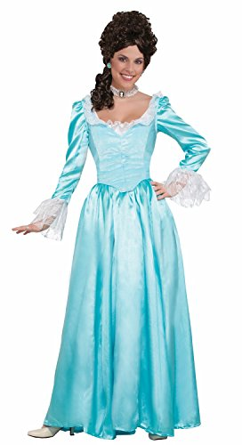 Colonial Lady Child Costumes (Forum Women's Colonial Lady Corset-Style Dress, Blue, M)