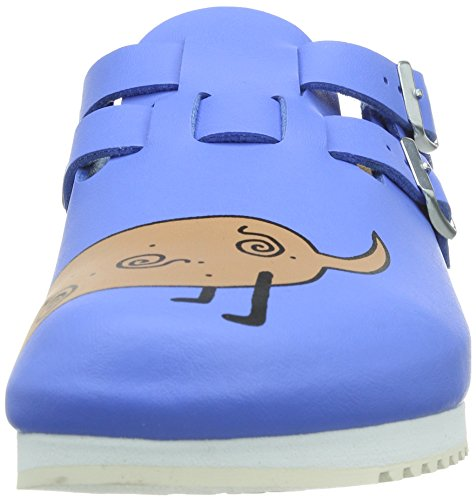 Birkenstock Clogs Kay From Birko Flor In Blue Dog