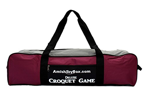 8-Player Deluxe Amish Crafted Croquet Game Set with Carry Bag (33'' Mallet Length) by AmishToyBox.com (Image #2)
