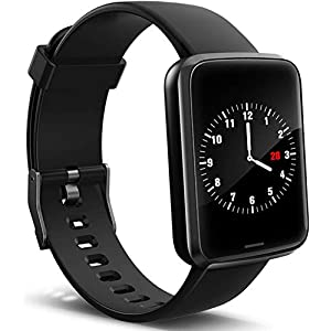 Lintelek Smart Watch, Smartwatch Blood Pressure Monitor, Fitness Watch HR with Sleep Monitor Compatible with iPhone…