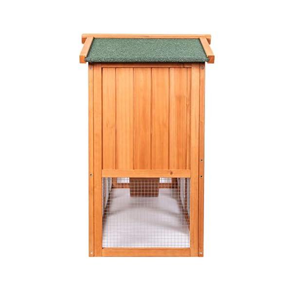 Sunnyglade Chicken Coop Large Wooden Outdoor Bunny Rabbit Hutch Hen Cage with Ventilation Door, Removable Tray & Ramp Garden Backyard Pet House Chicken Nesting Box 5