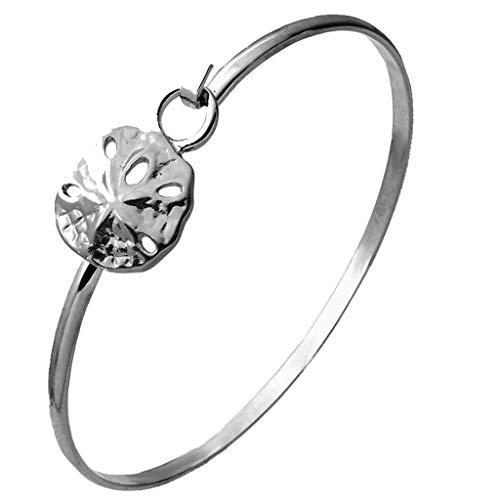 Cape Cod Jewelry-CCJ Sand Dollar Sea Life Latch Cuff Bracelet