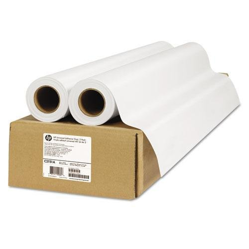 HP C2T51A Universal Adhesive Vinyl, 150 g/m2, 36'' x 66 ft, White, 2 Rolls/Pack by HP (Image #1)